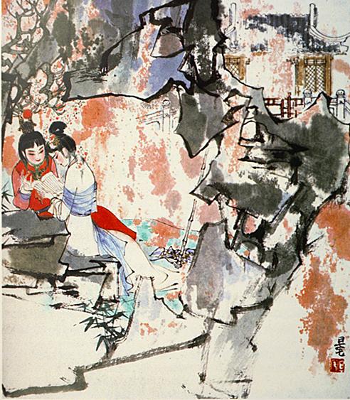 """1990年版""""四大名著""""套系之《红楼》,刘旦宅绘_副本.jpg"""