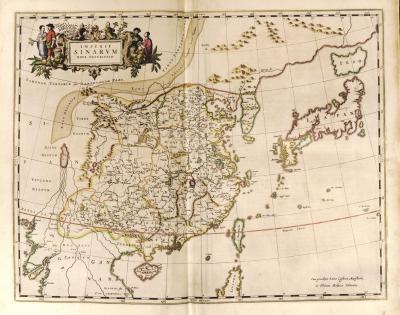 花饰成为卫匡国中国地图中最引人注目之处.