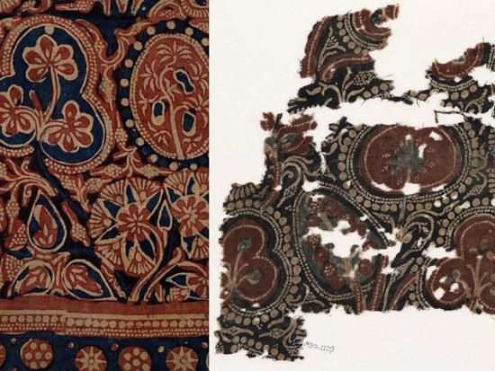 东南亚(左)和埃及(右)相似的棉织物表明,全球化自中世纪就已开始.jpg