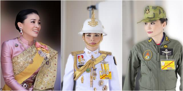 """泰国王室发布20张王后""""制服照"""":从空姐到将军再到王后……"""