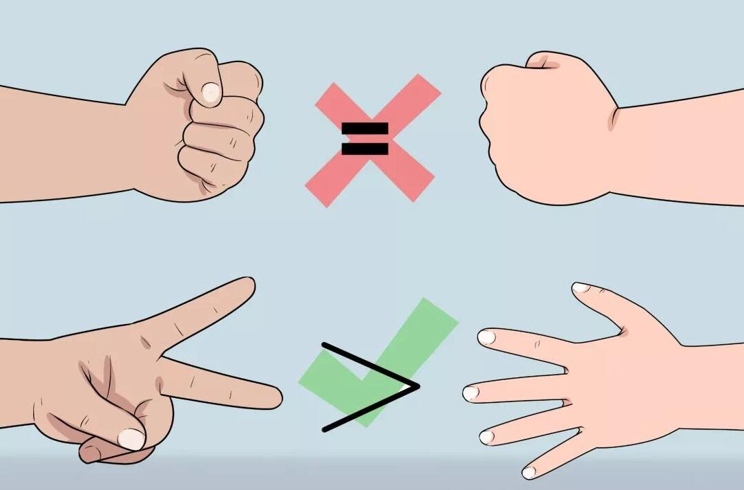 """玩石头剪刀布的人,会下意识的把手势归类为""""会赢的手势""""和""""会输的手势""""。 如果一个手势输了,他们更可能会在下一轮换个手势。有些选手会下意识复制刚才那个打败他的手势。"""