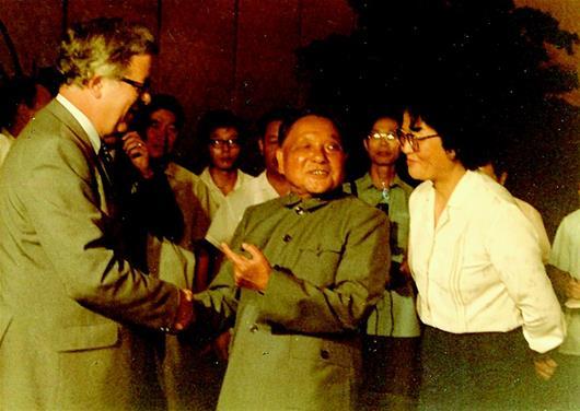 1984年7月,英国外交大臣杰弗里·豪访问中国。.jpg