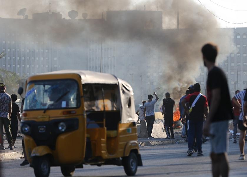 (国际)(2)伊拉克示威抗议引发的冲突已-FZ00033069322.JPG