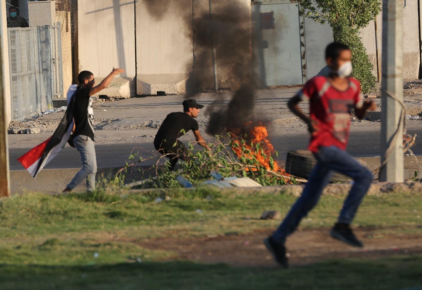 (国际)(1)伊拉克示威抗议引发的冲突已-FZ00033069324.JPG
