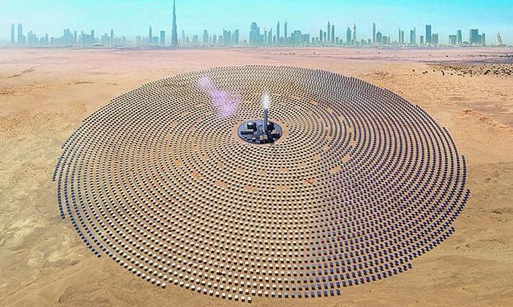 迪拜狂砸钱建世界最高的太阳能塔:高260米