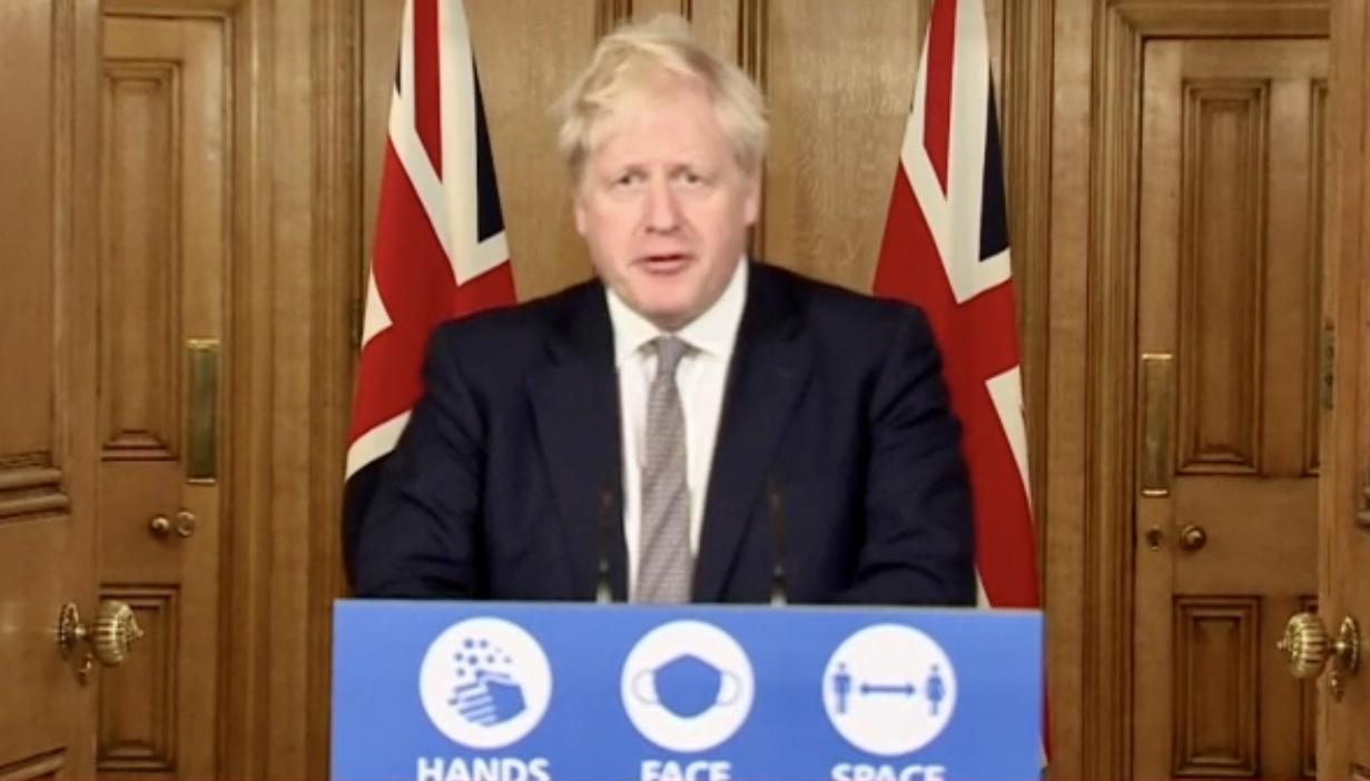 英国首相鲍里斯·约翰逊 央视新闻 图