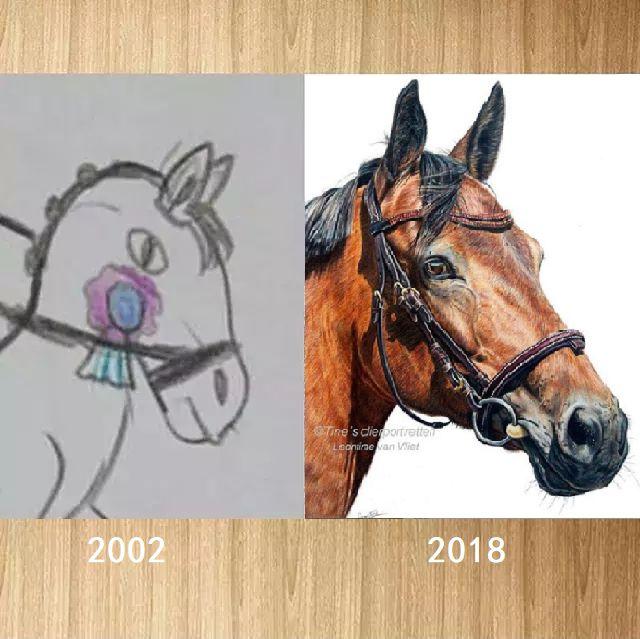 """专注!一匹马画16年,23岁美女""""学渣""""人生翻盘:人生没有白走的路、白受的苦"""